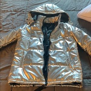 Forever 21 silver jacket